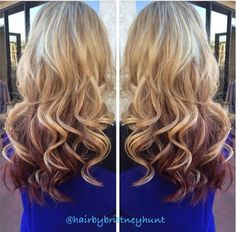 Reverse ombré. Maybe when I go to college and my mom can't yell at me ;)