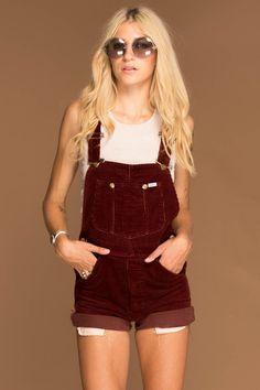 Farmer's Daughter Vintage Lee Corduroy Overalls