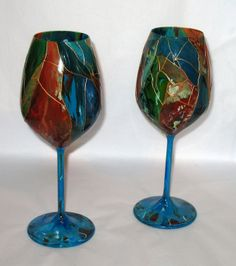Grand Canyon Crystal Wine Stems