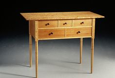 Garrett Hack - Handcrafted Wood Furniture - Gallery.  Here is another piece by Garrett Hack that is simple in design but beautiful in appearance.  Love it.