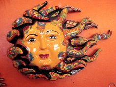 Talavera Sun - LaMariposa Mexican Imports - Folk Art, Mexican Dresses, Blouses, Sombreros, Pinatas, Fiesta Party Supplies, and Paper Flowers Dallas, Texas