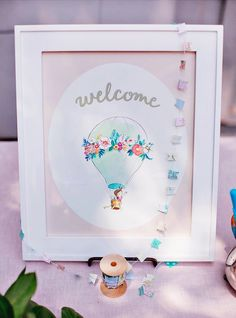 """Whimsical """"Dream Big"""" Hot Air Balloon Baby Shower // Hostess with the Mostess®"""