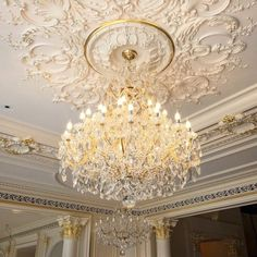 Le Palais Royal is closer to completion with the chandeliers been installed today.