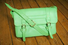 THE GREEN!!!!!! Purse 'JULES' leather neon green by labaita on Etsy, $220,00