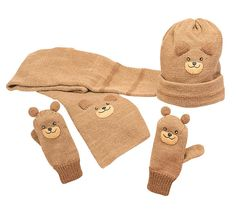 Bear Scarf, Hat and Mittens (http://bluegiraffeboutique.com/products/bear-hat-scarf-mittens.html)