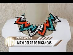 Maxi Colar de Miçangas - passo a passo - YouTube Beading Tools, Hair Beads, Beaded Jewelry, Collars, Crochet Necklace, Hair Accessories, Make It Yourself, Blog, Youtube