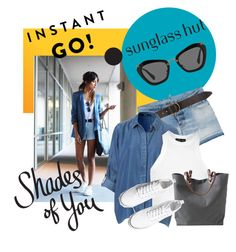 """Shades of You: Sunglass Hut Contest Entry"" by goreti ❤ liked on Polyvore featuring Dsquared2, Billabong, Topshop, Independent Reign, H&M, Miu Miu and shadesofyou"