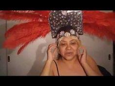 Como hacer un tocado, casco o penacho (Besos y agradecimientos para Bency) - YouTube