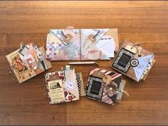 * schön und einfach, 6 pockets to fill * Fold 6 Pockets from ONE Sheet of Paper Envelope Maker, Envelope Book, Mini Scrapbook Albums, Scrapbook Paper, Mini Albums, Art Journal Tutorial, Mini Album Tutorial, Paper Crafts Origami, Diy Paper