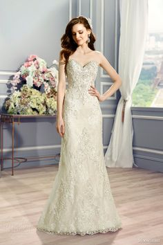 moonlight couture bridal fall 2016 h1286 strapless sweetheart vintage inspired trumpet wedidng dress swarovski crystal chantilly lace