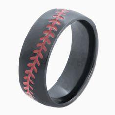 Baseball 8mm Serinium Ring