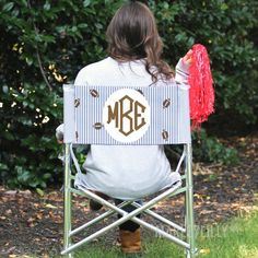 Football season is the best time to show off your monogram! Do it with The Monogrammed Tailgate Chair   Marleylilly