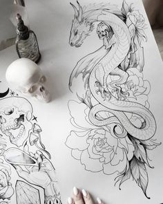 We have gathered 80 amazingly beautiful dragon tattoo ideas, inspired by everything from folklore tales to Game of Thrones. tattoo designs ▷ 1001 ideas and examples of the amazingly beautiful dragon tattoo Watercolor Dragon Tattoo, Dragon Tattoo Drawing, Dragon Thigh Tattoo, Small Dragon Tattoos, Dragon Tattoo For Women, Dragon Sleeve Tattoos, Japanese Dragon Tattoos, Dragon Tattoo Designs, Dragon Tattoo With Skull