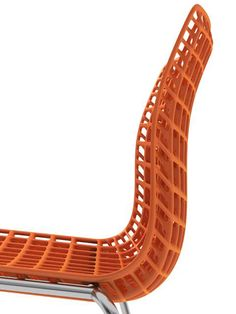 Details we like / Structure / Orange / Chair / /at Design Binge Living Furniture, Home Furniture, Furniture Design, Le Manoosh, 3d Cnc, Take A Seat, Magazine Design, Chair Design, Contemporary Furniture