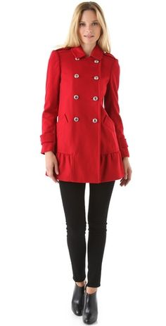 ruffle coat / juicy couture... love this!