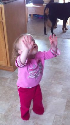 2 year old praising God with Chris Tomlin Our God/ Let you're children watch this; and their reaction.