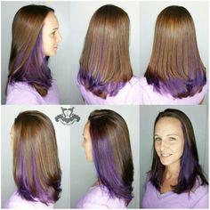 Purple Underneath Hair Pinte