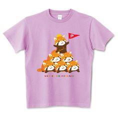 レッサーパンダ 安全な組体操 まろ眉   デザインTシャツ通販 T-SHIRTS TRINITY(Tシャツトリニティ)