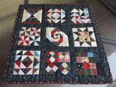 A personal favorite from my Etsy shop https://www.etsy.com/listing/457232812/handmade-mini-quilt-nine-block-sampler