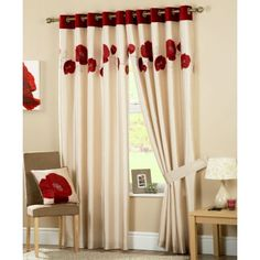Curtains is the UK`s favorite online curtain store offers an extensive range of Ready Made eyelet curtains and made to measure curtains. Floral Curtains, Red Curtains, Curtains With Blinds, Ready Made Eyelet Curtains, Beds Uk, Sitting Room Decor, Contemporary Curtains, Curtain Store, Made To Measure Curtains