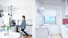 small Apartment, before and after, rom123.no