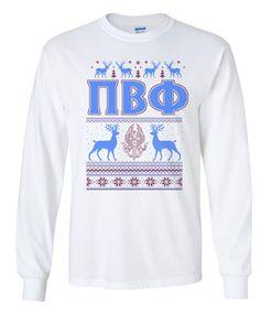 Pi Beta Phi Ugly Christmas Sweater Long Sleeve T-Shirt from GreekGear.com