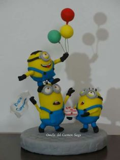 Minions party - cake topper
