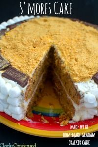 S'mores Cake {{Graham Cracker Cake with Marshmallow Frosting}}