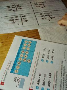 soustraction en colonnes avec la méthode de Singapour et les timbres Montessori