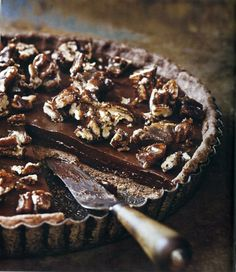 Adventures with Chocolate..The Book..  ...we think this is the Sea-Salted Caramel Tart..other recipes from Adventures with Chocolate are Paul A Young's Bacon..Stilfton & Chocolate Sandwich..   paulayoung.co.uk