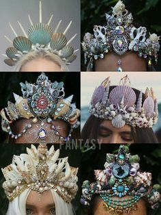 Put one of these stunning mermaid crowns atop your mermaid hair.  At least we can dream: http://skreened.com/letsgetweird89/mermaid-hair