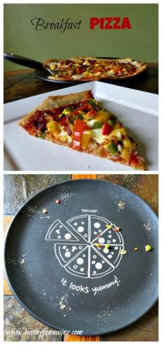 Breakfast Pizza Recipe - Breakfast Pizza Recipe on Having Fun Saving and Cooking - Quick Healthy Meals, Healthy Food Options, Healthy Recipes, Easy To Make Breakfast, Easy Food To Make, Breakfast Pizza, Breakfast Casserole, Breakfast Recipes, Pizza Recipes