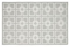 Martha Stewart Dhurrie, Gray/White-perfect rug for baby room!