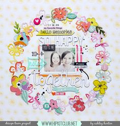 Design Team layout for Hip Kit Club, using the July 2016 Hip Kit & Add-On Kits. Scrapbook Paper Crafts, Scrapbook Supplies, Scrapbook Cards, Scrapbooking Ideas, Digital Scrapbooking, Photo Layouts, Scrapbook Page Layouts, Hip Kit Club, Crate Paper