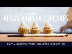 Just 9 ingredients and 30 minutes! Can be Top 8 Allergen Free. Sprinkle Cupcakes, Easter Cupcakes, Baking Cupcakes, Dairy Free Vanilla Frosting, Vegan Vanilla Cupcakes, Mothers Cookies, Sweet Recipes, Vegan Recipes, Cupcake Youtube
