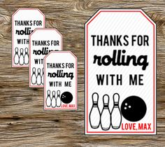 DIY Persoanlized Printable Bowling Party by leslienashdesigns, $3.50