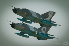 Mig-21 LanceR Romanian Air Force 6487 and 6807