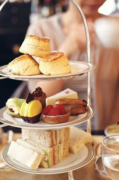 Ooh, we wouldn't mind digging into the middle plate and enjoying those lovely cakes with a pot of tea!  Afternoon Tea
