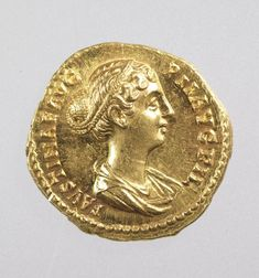 Aureus coin with bust of Faustina II, daughter of Antoninius Pius and wife of Marcus Aurelius Medium: Struck gold Geography: Mint of Rome, Italy Date: c. AD Period: Reign of Antoninus Pius, Roman Imperial period Dimensions: cm Object number: Ancient Roman Coins, Ancient Romans, Roman Hairstyles, Antoninus Pius, Royal Ontario Museum, Donate Now, Museum Collection, Gold Coins, World Cultures