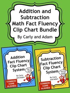 This is an excellent classroom tool for increasing addition and subtraction math fact fluency. Students love tracking their own math skills and are so excited to move their clothespin marker when they pass each level. As an added incentive, print off the certificates and present them to students as they pass each level.What comes with it:Subtraction Math Fact Fluency Clip Chart SystemAddition Math Fact Fluency Clip Chart SystemInstructionsClip Chart: Numbers 0-10 (BOTH addition and…