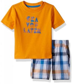 cb91d368643c Nautica Baby Boys  Two Piece Set with Crew Neck Graphic Tee and Pull on  Short