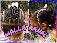 Peinados para niñas. Curso #13 (Tejido la maya o panal de abejas) - YouTube Black Girl Updo Hairstyles, Cute Hairstyles, Cornrows, Braids, Girls Updo, Hair Creations, Braid Styles, Hair Dos, Brown Hair