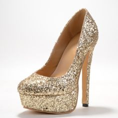 89.00$  Watch now - http://alih2a.worldwells.pw/go.php?t=32481917548 - Gold Sparkling Glitter Stiletto Heel Platform Shoes Pointed Toe High Thin Cover Heels Praty  Sapato Femininos Pumps Size 4 To 14