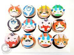 Yo-Kai Watch Character Cupcakes! With Jibanyan, Whisper, Koma-san, Komajiro, and Kyuntaro!