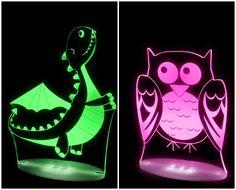 Lámparas para niños Aloka. Leds, muchos colores
