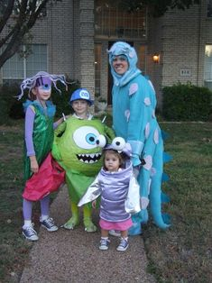 monster's inc family group costume