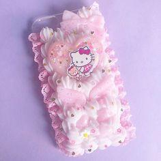 Kawaii Phone Case, Decoden Phone Case, Diy Phone Case, Bling Phone Cases, Iphone Phone Cases, Phone Cover, Cute Polymer Clay, Cute Clay, Cute Cases