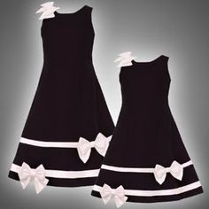 Flower Girl??? $50 Rare Editions  Rare Editions LITTLE GIRLS 4-6X BLACK IVORY SATIN VELVET BOWS and BANDS Special Occasion Wedding Flower Girl Holiday Pageant Party Dress