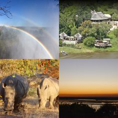 Sanctuary Retreats Sussi and Chuma, Zambia Victoria Falls rainbow White Rhino Conservation