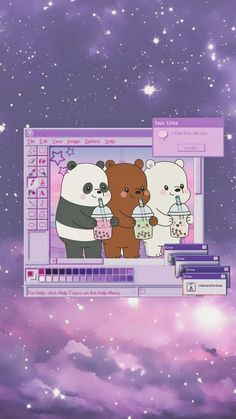 Pink Wallpaper Cartoon, Panda Wallpaper Iphone, Wallpaper Doodle, Cute Fall Wallpaper, Cute Tumblr Wallpaper, Cute Panda Wallpaper, Cartoon Wallpaper Iphone, Sad Wallpaper, Cute Disney Wallpaper